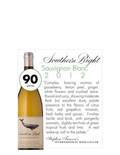 haven't tried but going to. Southern Right Sauvignon Blanc 2012 #wine
