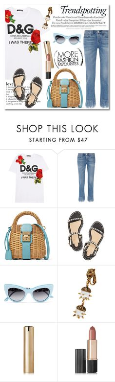 """Untitled #515"" by zhris ❤ liked on Polyvore featuring Melissa, Dolce&Gabbana, 3x1, Mark Cross, Christian Louboutin, Gucci and Estée Lauder"