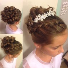 Image result for young girl bridesmaid chignon hair