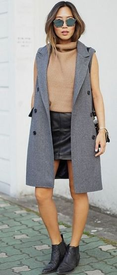 sleeveless coat #sleeveless