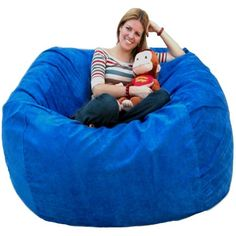 Chill Bag Bean Bags Memory Foam Bean Bag Chair Feet Navy - Cozy chill bag