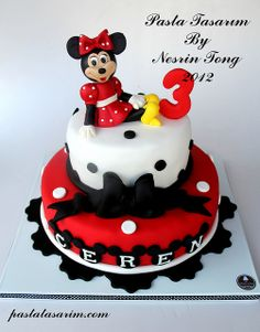 MINIE MOUSE BIRTHDAY CAKE - CEREN by CAKE BY NESRİN TONG, via Flickr