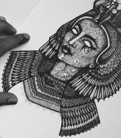 I have 6 A4 sized #Cleopatra prints left. If you are interested in a signed print of the #ancientegypt collection contact me via email (murderandrose@gmail.com) or DM me for more information. 6 ONLY remaining. #MURDERANDROSE