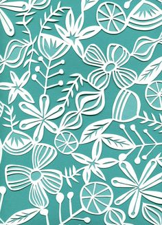 spring-inspired papercut by jennifer judd-mcgee. i absolutely adore this.