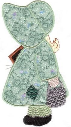 Ideas sewing machine embroidery patterns sunbonnet sue for 2019 Quilt Block Patterns, Applique Patterns, Applique Quilts, Applique Designs, Embroidery Applique, Quilt Blocks, Sunbonnet Sue, Sewing Machine Embroidery, Machine Applique