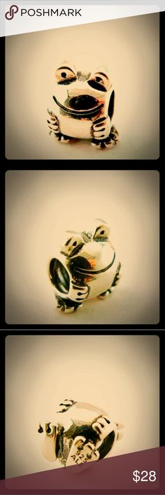 Authentic Pandora Sterling Silver Frog Charm/NWT Authentic Pandora Sterling Silver Frog Charm/NWT Stamped-Ale/s925/Solid Sterling Silver Pandora Jewelry Bracelets