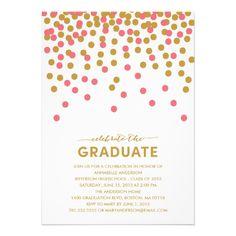 Confetti Celebration Graduation Invitation