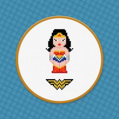 Looking for your next project? You're going to love Wonder Woman Cross Stitch Pattern by designer pxlpwr.