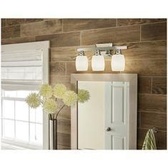 Shop allen + roth 3-Light Chrome Bathroom Vanity Light at Lowes.com