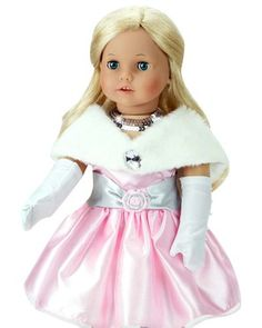 """4 piece special occasion dress set for 18"""" dolls like American Girl."""