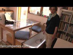 Tiny matchbox apartment hides closet & bathtub in drawers - YouTube