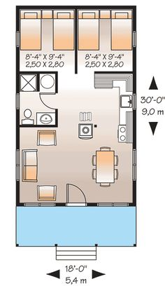 Light-Filled Vacation Retreat - 21764DR floor plan - Main Level