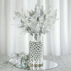 Wedding Arrangements, Floral Arrangements, Wedding Bouquets, Flower Arrangement, Christmas Table Decorations, Wedding Decorations, Party Centerpieces, Silver Wedding Centerpieces, Tree Branch Centerpieces