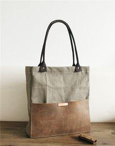 Amovible avec poignées, sac cuir toile, sac à bandoulière, messager de la femme, en toile sac, fourre-tout