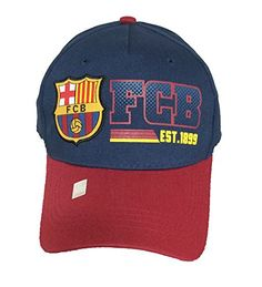 ee804c7f2ef41 Fc Barcelona Cap HAT Blue and RED Licensed Authentic By Rhinox C1E25 Rhinox  http