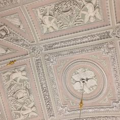 detailed plaster work in oh so pretty pink and white.