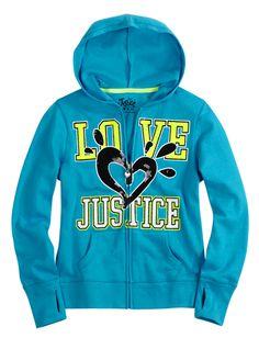 Neon Zip-Up Hoodie With Sequins | Jackets | Sweatshirts | Shop Justice