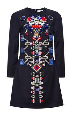 Embellished-Wool Dress by Mary Katrantzou Now Available on Moda Operandi