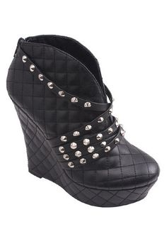 Roxana Studded Booties - Black
