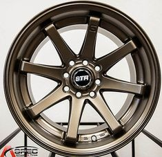 15x8 STR522 Matte Bronze Wheels 4x100 114 3 15 Rim Fits Honda Civic Accord | eBay