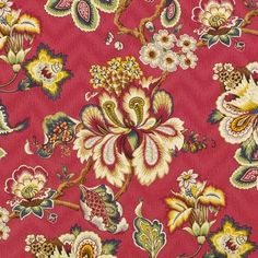 Duralee Crestmore Traditional Prints Fabric Color: Garnet