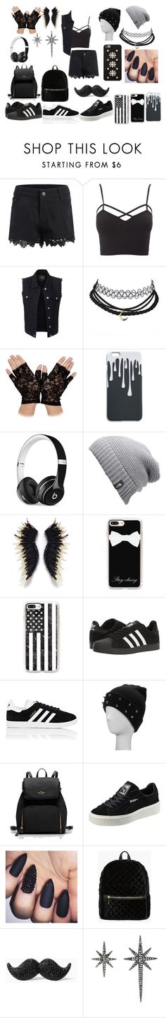 """""""Untitled #23"""" by aweeden400 ❤ liked on Polyvore featuring Charlotte Russe, LE3NO, Beats by Dr. Dre, The North Face, Mignonne Gavigan, Casetify, adidas, Puma, Boohoo and Kate Spade"""