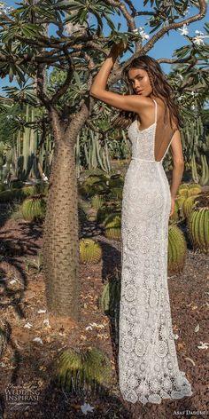 2018 bridal thin strap deep sweetheart neckline full embellishment elegant sheath wedding dress low open back