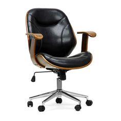 Baxton Studio Rathburn Walnut and Black Modern Office Chair - Overstock Shopping - Great Deals on Baxton Studio Office Chairs