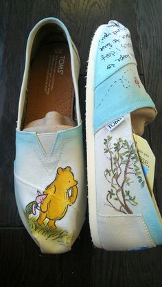Winnie the Pooh and Piglet Custom Classic Disney by LaQuist, $100.00