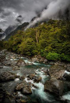 Tutoko River, Fiordland, South Island, New Zealand