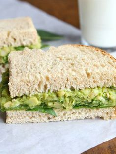 Smashed Chickpea & Avocado Salad Sandwich—a must try!