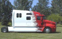 now this is what I call living! and making a living! Big Rig Trucks, All Truck, Train Truck, Road Train, Semi Trucks, Cool Trucks, Kenworth Trucks, Peterbilt, 5th Wheel Trailers