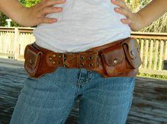 Penelope Hip Purse  Leather Belt Purse by WarriorCreek on Etsy, $79.00