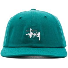 Stussy Basic Logo Twill Cap (2,230 INR) ❤ liked on Polyvore featuring men's fashion, men's accessories, men's hats and mens caps and hats