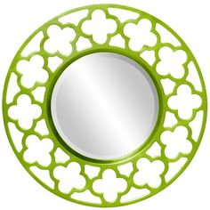 I love this Howard Elliot Gaelic Wall Mirror in Lime Green from the Preppy Pops event at Joss and Main!