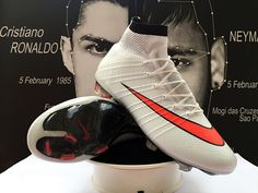 Cheap Nike Mercurial Superfly FG Soccer Cleats White Red Black