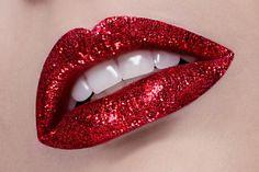 red glitter lips                                                                                                                                                                                 More