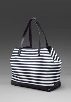 Rebecca Minkoff striped canvas bag