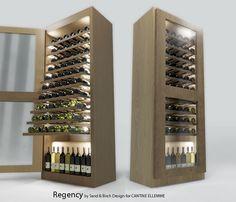 REGENCY winecellar - 80 bottles, one climatized zone or two climatized zones