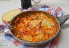 Parmigiana di zucchine in padella alla amatriciana