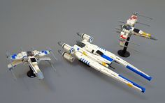 https://flic.kr/p/TkVmdy | U-Wing | To celebrate the home release of Rogue One I present my mid scale U-wing. Also featuring a slightly improved version of my mid scale X-wing in Blue and Red squadron colours. The U-wing unfolds of course! www.flickr.com/photos/roguebantha/33583869922/in/photostr...