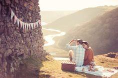 A Scenic Cliffside Picnic Engagement Shoot – Abi & Matt by http://www.agatomaszek.com/