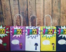 Teen titans go inspired goody bags