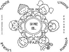 DÍA DE LA PAZ Modern Typewriter, Peace Crafts, World Peace Day, Child Day, Colouring Pages, School Projects, Elementary Schools, Clip Art, Classroom