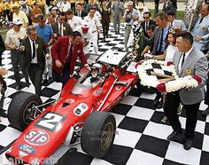 MARIO ANDRETTI 1969 INDIANAPOLIS 500 INDY WINNERS CIRCLE Indy Car Racing, Indy Cars, My Dream Car, Dream Cars, Indy 500 Winner, Mario Andretti, Indianapolis Motor Speedway, Old Race Cars, Vintage Race Car