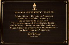 Main Street, U.S.A. (Ramblings of a Writer — missmaceymouse: Opening Day Lands  by...)