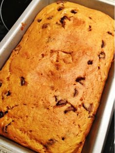 Kneaders Pumpkin Chocolate Chip Bread Recipe. The best!  Makes 3 good sized loaves of bread.
