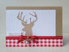 Margriet Creatief, Remembering Chirstmas set, Gingham Stampin' around wheel