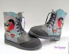Валяные ботинки