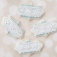 For this video tutorial I sharing this delicate royal icing eyelet lace cookies favors. The cookies were prepared for a Memorial weekend wedding and inspired by the bride's vintage wedding dress. The wedding dress was beyond beautiful! The bride's...
